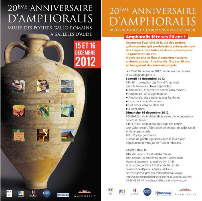 Programme anniversaire Amphoralis