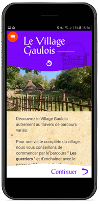 Application Le Village Gaulois - Page d'accueil
