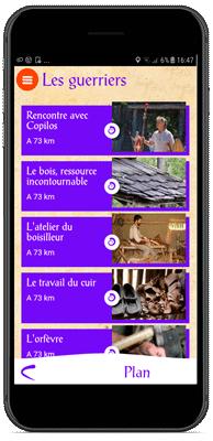 Application Le Village Gaulois - Les étapes des parcours