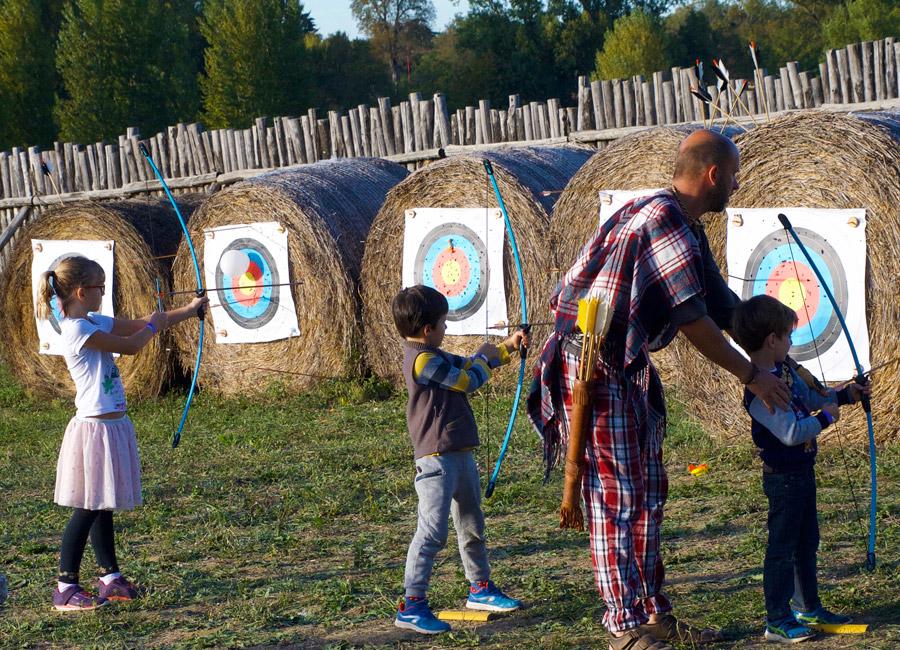 Le tir à l'arc au Village Gaulois