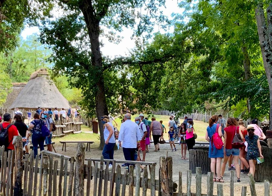 La visite du village gaulois