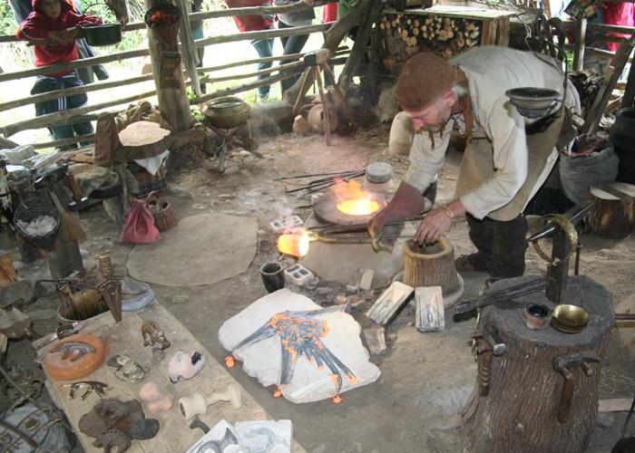 Les démonstrations d'artisanat gaulois