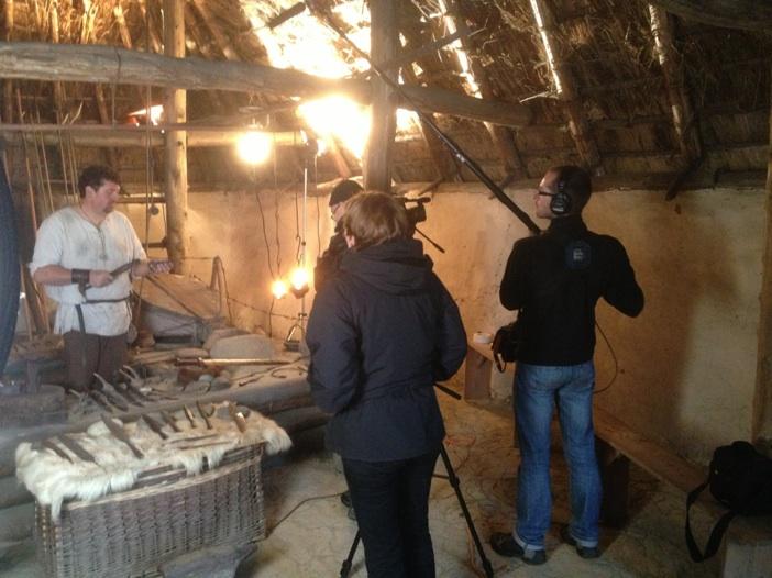 L'équipe de Beineix filme la forge gauloise