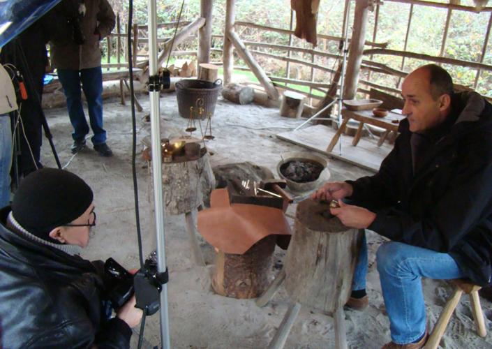 Beineix en tournage au Village Gaulois