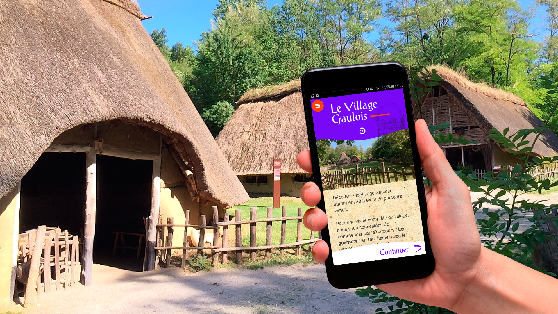 L'application mobile Le Village Gaulois