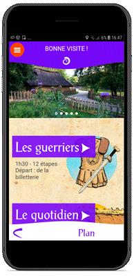 Application Village Gaulois - Parcours