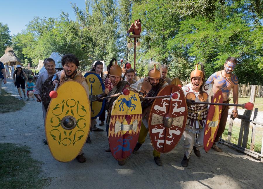 Les guerriers gaulois au Village Gaulois