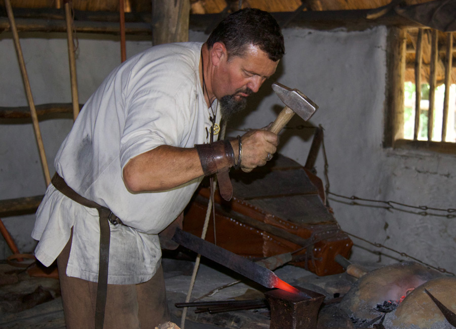 Démonstrations d'artisanat gaulois