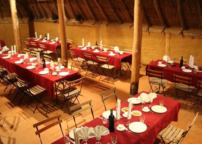 La salle de restaurant du Village Gaulois