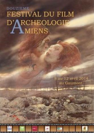 Affiche Festival du film d'archéologie Amiens 2014