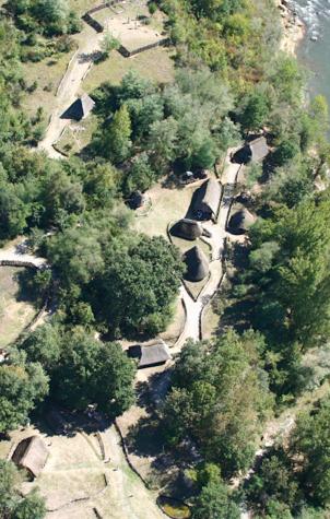 Le village Gaulois vu du ciel