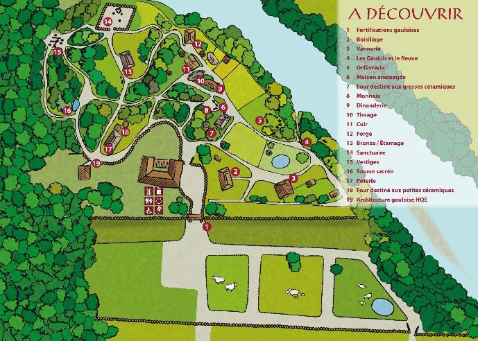 Plan du village Gaulois